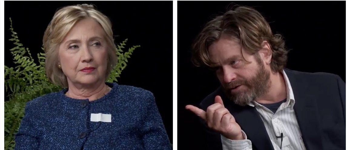 Hillary Clinton, Zach Galifianakis (screenshot: Funny or Die)