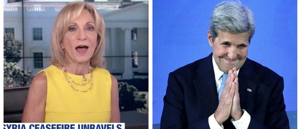 Andrea Mitchell, John Kerry (MSNBC, Getty Images)