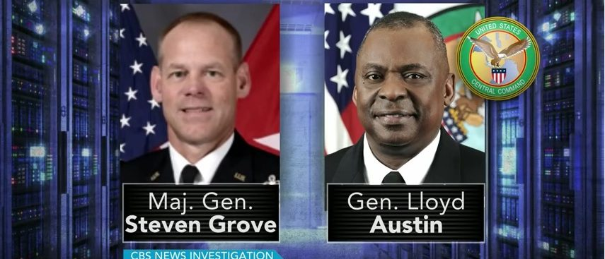 Maj. Gen. Steven Grove, Gen. Lloyd Austin (CBS)