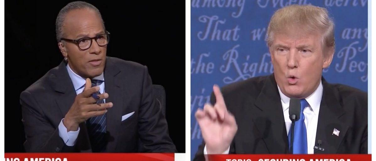 Lester Holt, Donald Trump (MSNBC)