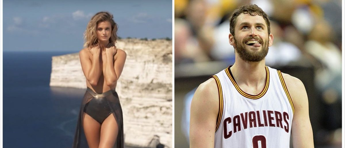 Kevin Love (Credit: Screenshot/Youtube Sports Illustrated Swimsuit, Getty Images)