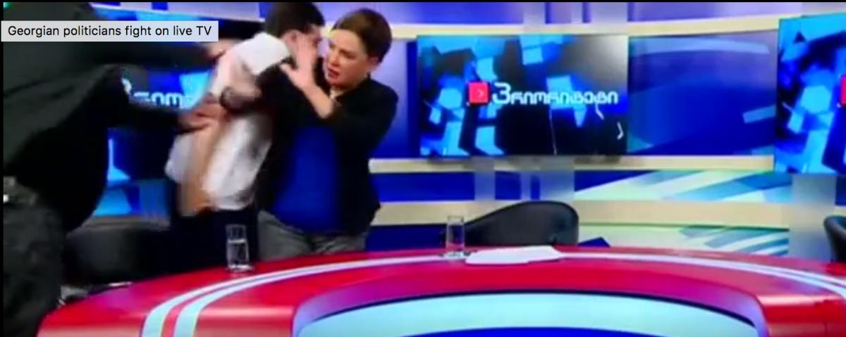 Fight (Reuters Video/Screenshot)