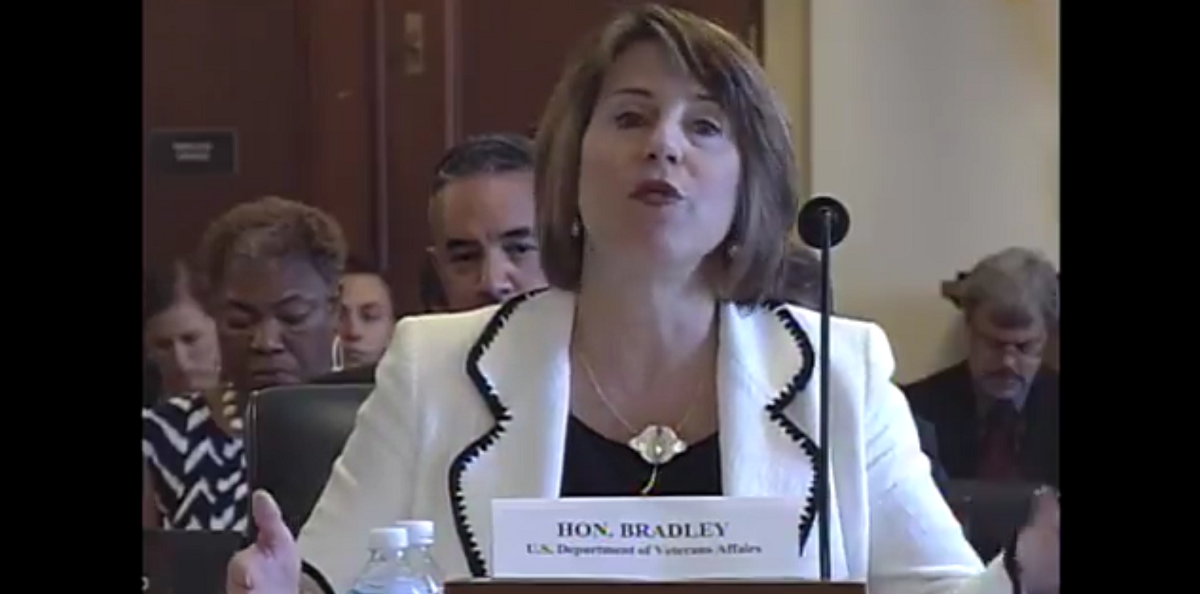 Leigh Bradley General Counsel, U.S. Department of Veterans Affairs. Screenshot: https://www.youtube.com/watch?v=1woZ47CTCTM