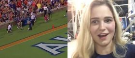 PROOF: The Auburn Coed Who Took A Kickoff Right To The Face Remains A Total Smoke Show [VIDEO]