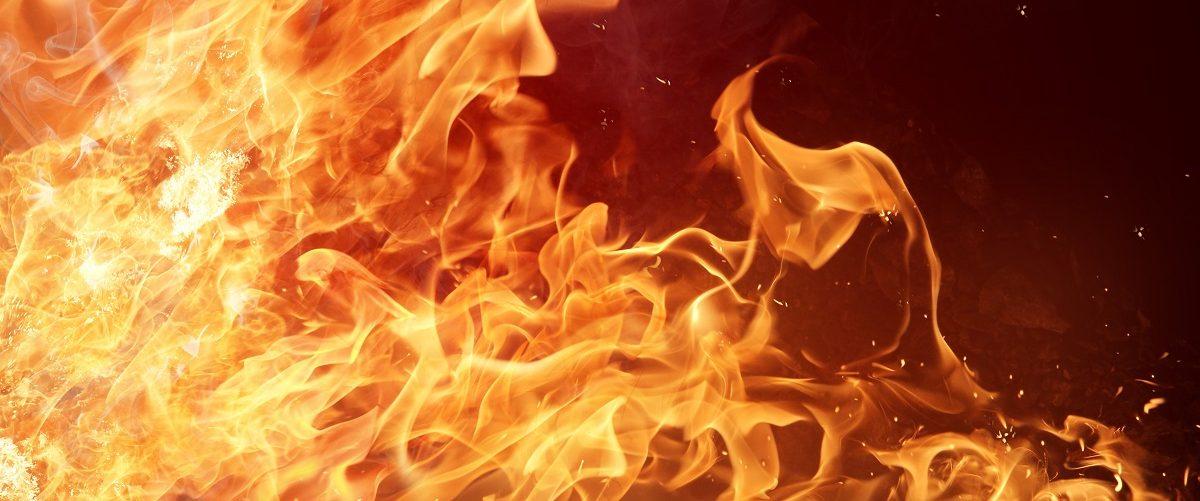 Fire on background. Lukas Gojda/Shutterstock.