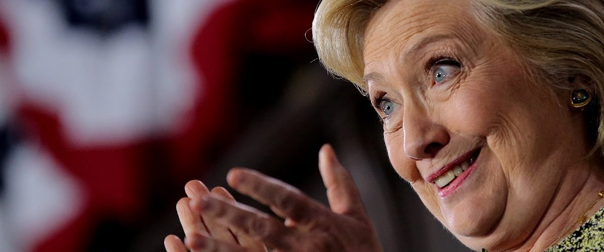 U.S. Democratic presidential candidate Hillary Clinton reacts after speaking at a campaign event at Temple University in Philadelphia, Pennsylvania, U.S. September 19, 2016. REUTERS/Carlos Barria