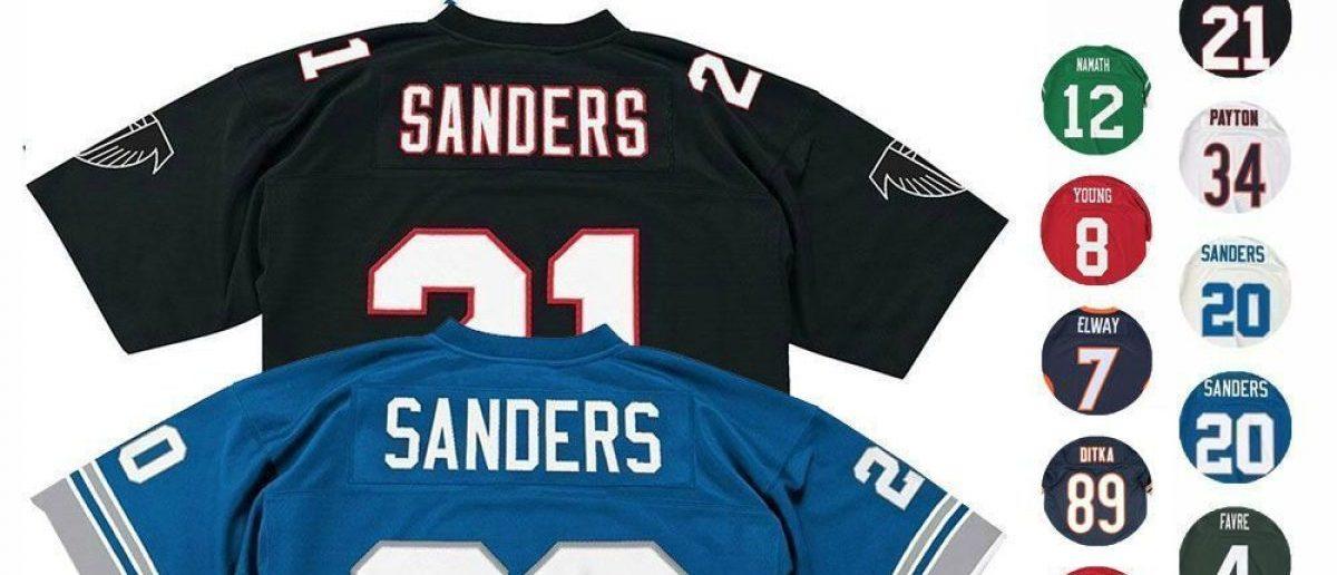 NFL throwback jerseys are $50 off (Photo via eBay)