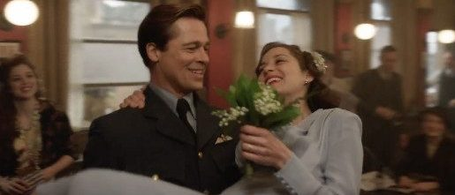 Brad Pitt and Marion Cotillard in 'Allied'