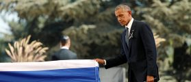 Obama Rushes To Make Israeli Leader Shimon Peres' Funeral About Himself