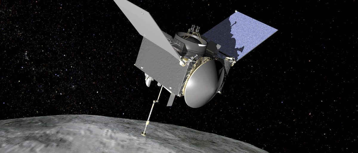 The Origins, Spectral Interpretation, Resource Identification, Security-Regolith Explorer (OSIRIS-REx) spacecraft which will travel to the near-Earth asteroid Bennu and bring a sample back to Earth for study is seen in an undated NASA artist rendering. (NASA/Handout via Reuters)