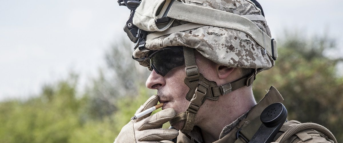 U.S. Marine Smoking