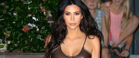 Kim Kardashian, See Through Dress And No Bra — That's One Way To Make A Statement