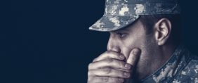 U.S. soldier with PTSD. (Anchiy/Shutterstock).