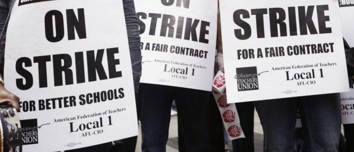 Union Members on Strike: John Gress/Reuters