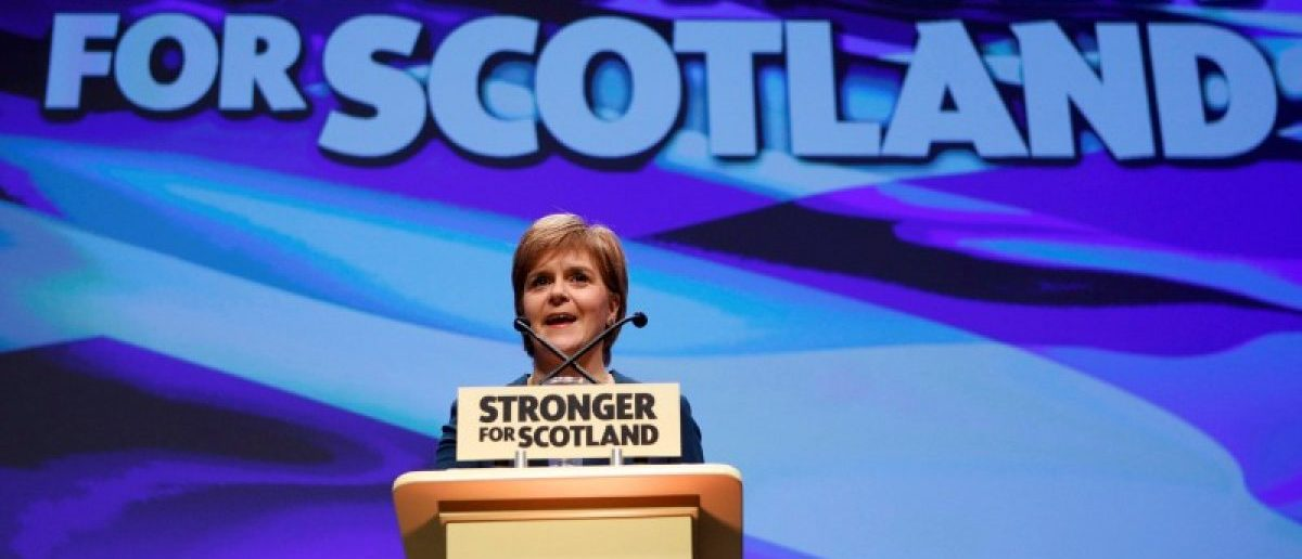 Scotland's First Minister and leader of the Scottish National Party (SNP), Nicola Sturgeon, speaks at the party's annual conference in Glasgow, Scotland, Britain October 13, 2016. REUTERS/Russell Cheyne