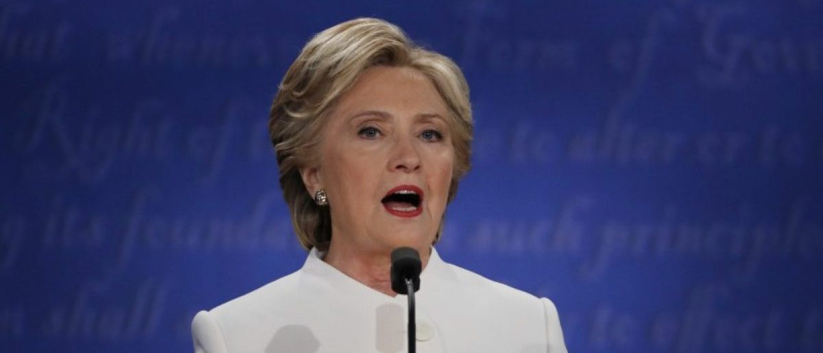 Democratic nominee Hillary Clinton speaks during the third and final 2016 presidential campaign debate at UNLV in Las Vegas