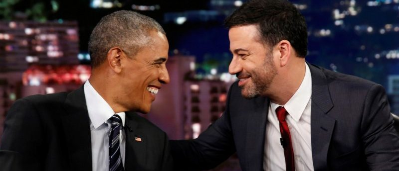 President Barack Obama is interviewed by Jimmy Kimmel in a taping of the Jimmy Kimmel Live! show in Los Angeles October 24, 2016