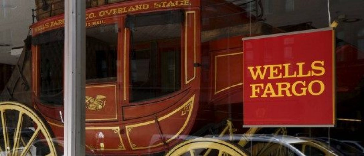 An 1860's era stagecoach is displayed at the Wells Fargo & Co. bank in downtown Denver, Colorado, U.S. April 13, 2016. REUTERS/Rick Wilking/File Photo