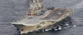 Russian Plane Slides Off Deck Of Decrepit Aircraft Carrier And Into The Sea