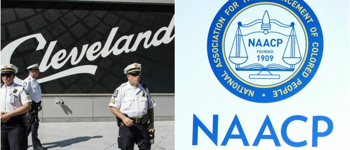 Cleveland Police: John McGraw/shutterstock.com, NAACP: Joe Seer/shutterstock.com