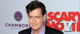 """Actor Charlie Sheen arrives at the Dimension Films' """"Scary Movie 5"""" premiere at the ArcLight Cinemas Cinerama Dome on April 11, 2013 in Hollywood, California"""