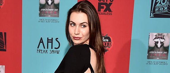 "TV personality Sophie Simmons attends FX's ""American Horror Story: Freak Show"" premiere screening at TCL Chinese Theatre on October 5, 2014 in Hollywood, California. (Photo by Frazer Harrison/Getty Images)"