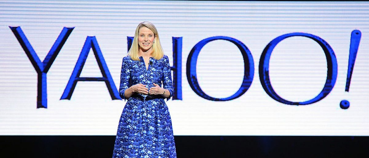 LAS VEGAS, NV - JANUARY 07: Yahoo! President and CEO Marissa Mayer delivers a keynote address at the 2014 International CES at The Las Vegas Hotel & Casino (Photo by Ethan Miller/Getty Images)