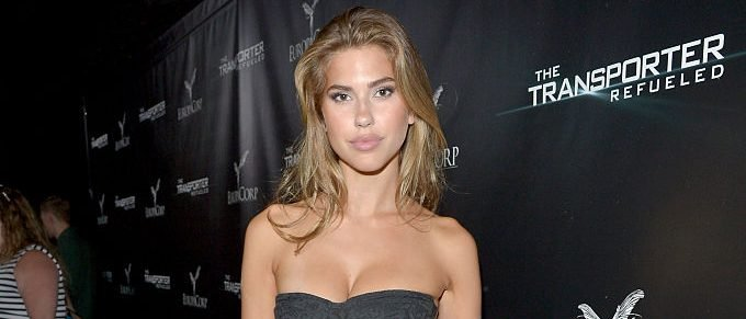 Model Kara Del Toro attends a Special Screening and After-Party for EuropaCorp's 'The Transporter Refueled' at the Playboy Mansion in Los Angeles, California. (Photo by Charley Gallay/Getty Images for Playboy)