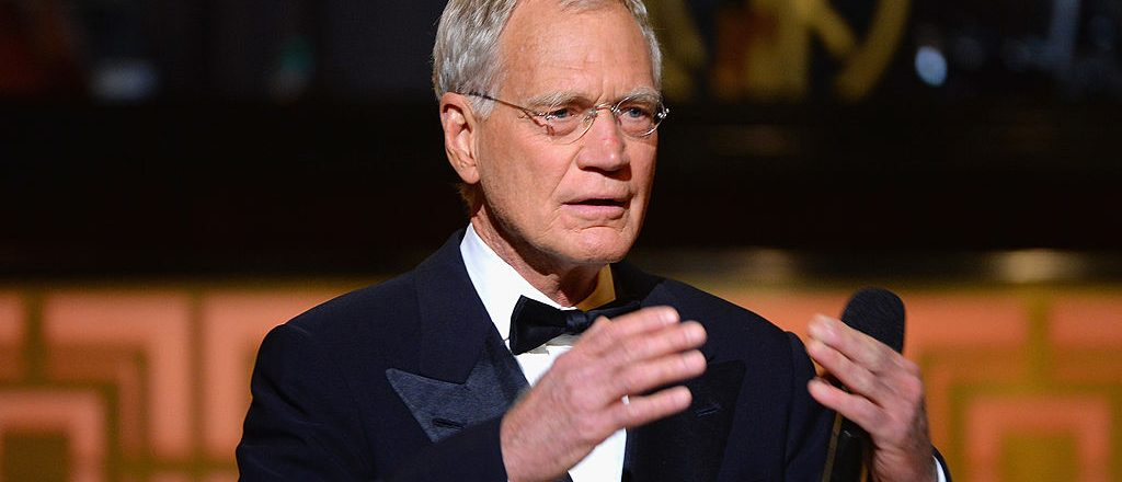 "David Letterman speaks onstage at Spike TV's ""Don Rickles: One Night Only"" on May 6, 2014 in New York City. (Photo by Theo Wargo/Getty Images for Spike TV)"