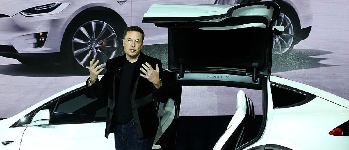 FREMONT, CA - SEPTEMBER 29: Tesla CEO Elon Musk speaks during an event to launch the new Tesla Model X Crossover SUV on September 29, 2015. (Photo by Justin Sullivan/Getty Images)