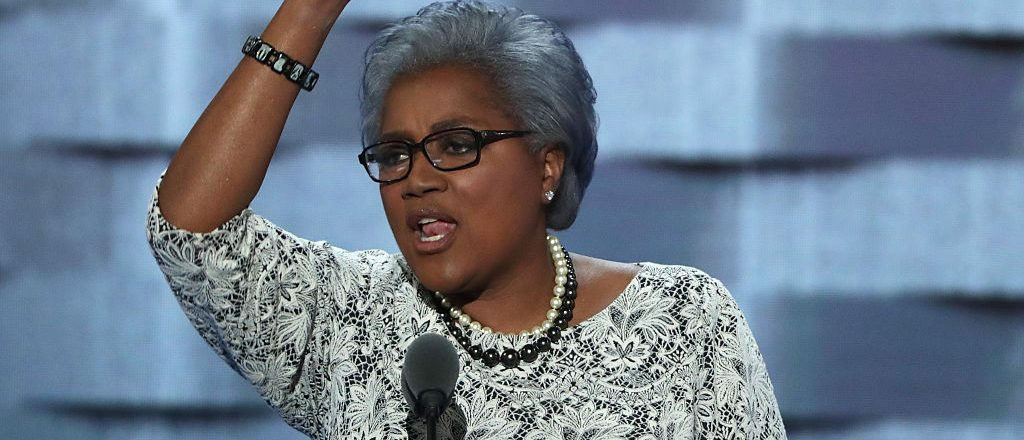 PHILADELPHIA, PA - JULY 26:  Interim chair of the Democratic National Committee, Donna Brazile delivers remarks on the second day of the Democratic National Convention at the Wells Fargo Center, July 26, 2016 in Philadelphia, Pennsylvania. Democratic presidential candidate Hillary Clinton received the number of votes needed to secure the party's nomination. An estimated 50,000 people are expected in Philadelphia, including hundreds of protesters and members of the media. The four-day Democratic National Convention kicked off July 25.  (Photo by Alex Wong/Getty Images)