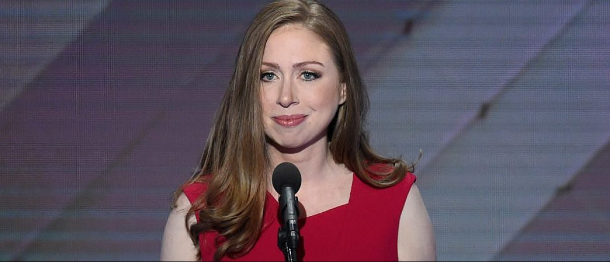 Chelsea Clinton addresses delegates during the fourth and final night of the Democratic National Convention at Wells Fargo Center on July 28, 2016 in Philadelphia