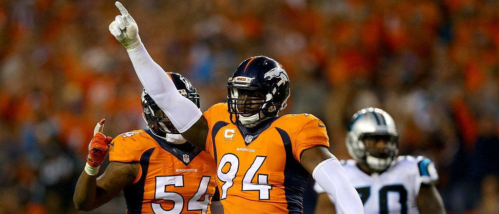 Outside linebacker DeMarcus Ware #94 of the Denver Broncos. (Photo by Justin Edmonds/Getty Images)