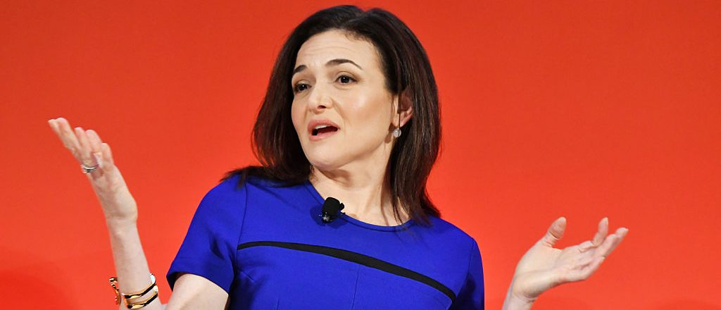 NEW YORK, NY - SEPTEMBER 27: Facebook COO Sheryl Sandberg speaks onstage during the Leadership in a Mobile World - A Conversation with Facebook's Sheryl Sandberg, GM's Mary Barra, and P&G's Marc Pritchard panel at The Town Hall during 2016 Advertising Week New York on September 27, 2016 in New York City. (Photo by Slaven Vlasic/Getty Images for Advertising Week New York)