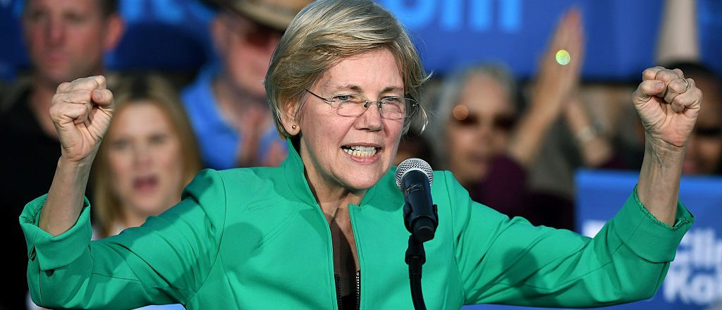 Elizabeth Warren speaks at The Springs Preserve on October 4, 2016 in Las Vegas, Nevada (Getty Images)