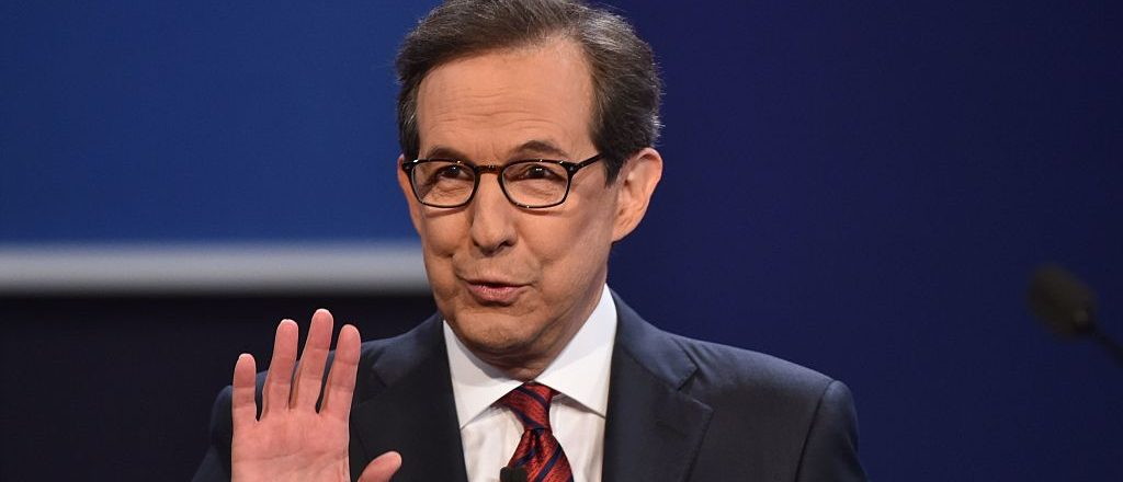 Debate moderator Chris Wallace speaks prior to the third and final US presidential debate between Democratic nominee Hillary Clinton and Republican nominee Donald Trump at the Thomas & Mack Center on the campus of the University of Las Vegas in Las Vegas, Nevada on October 19, 2016. / AFP / Paul J. Richards        (Photo credit should read PAUL J. RICHARDS/AFP/Getty Images)