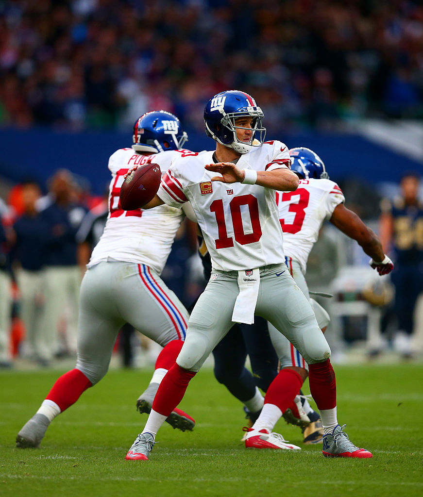 """f180acb68ae5b New York Giants quarterback Eli Manning has denied calling a """"Trump""""  audible during their game against the Los Angeles Rams — even though it  definitely ..."""
