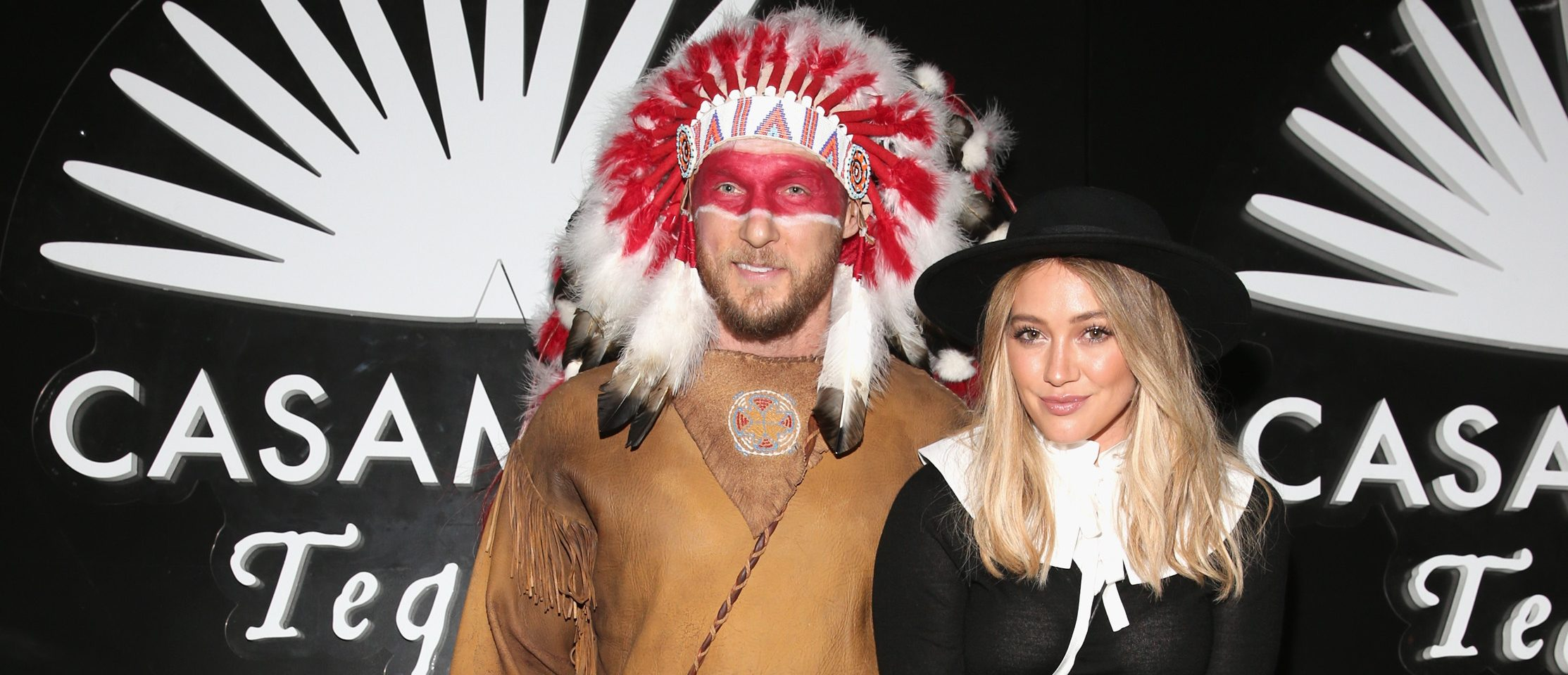 BEVERLY HILLS, CA - OCTOBER 28: Actress Hilary Duff (R) and Jason Walsh arrive to the Casamigos Halloween Party at a private residence on October 28, 2016 in Beverly Hills, California. (Photo by Todd Williamson/Getty Images for Casamigos Tequila)