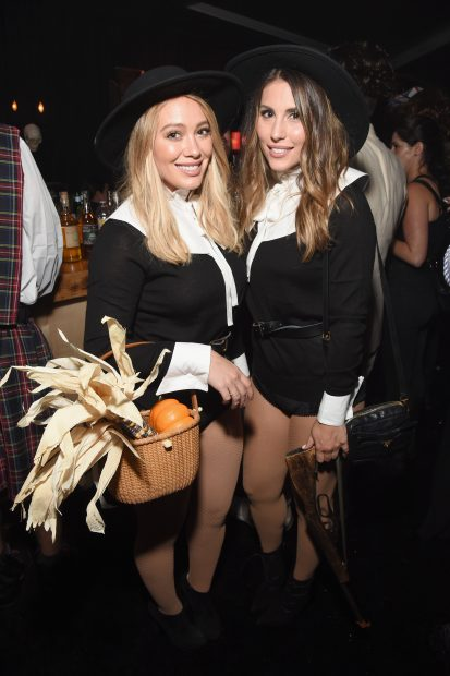 BEVERLY HILLS, CA - OCTOBER 28: Actress Hilary Duff (L) and guest attend the Casamigos Halloween Party at a private residence on October 28, 2016 in Beverly Hills, California. (Photo by Michael Kovac/Getty Images for Casamigos Tequila)