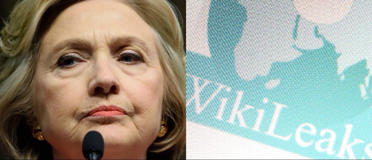 Hillary Clinton: Evan El-Amin/Shutterstock.com, Wikileaks Logo, haak78/Shutterstock.com