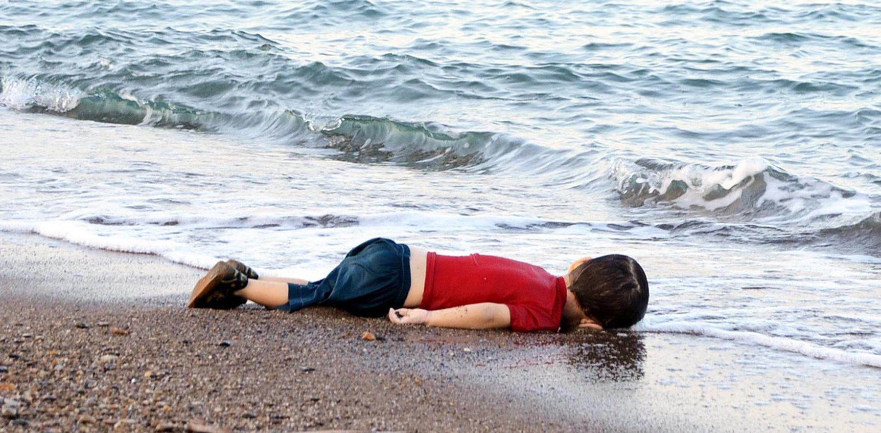 The body of three-year-old Alan Kurdi. Getty Images/Nilufer Demir