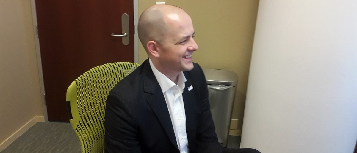 Independent presidential candidate Evan McMullin sat down with The Daily Caller News Foundation in his Washington D.C. campaign office to discuss his candidacy. Photo credit: The Daily Caller News Foundation/J.P. Carroll