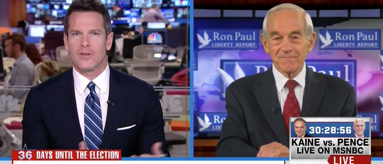 Thomas Roberts, Ron Paul (MSNBC)