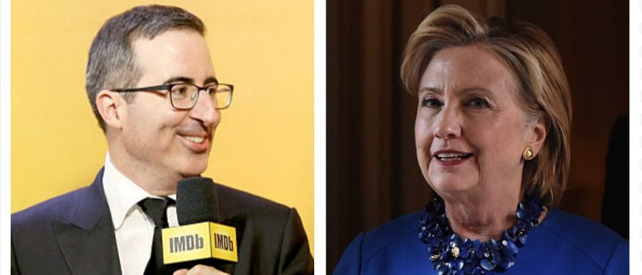 John Oliver, Hillary Clinton (Getty Images)