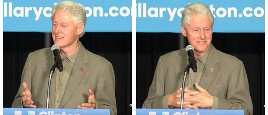 Bill Clinton campaigns for Hillary in Belle Glade, FL on October 11, 2016 (YouTube)