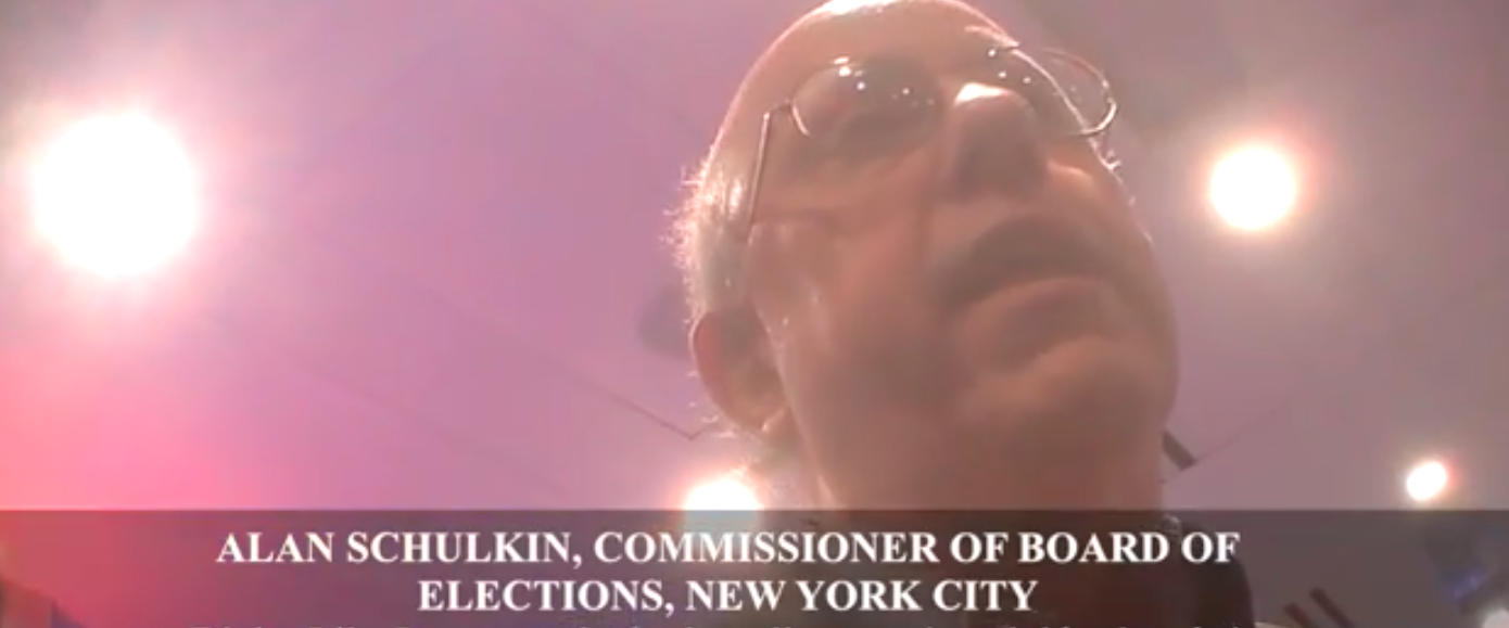 A Democratic official was caught on camera admitting his knowledge of voter fraud in New York, according to a video released Tuesday. (Youtube screen shot/Project Veritas)
