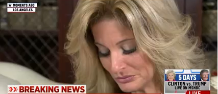 """The Apprentice"" contestant Summer Zervos said Trump kissed and touched her. (YouTube screen grab)"