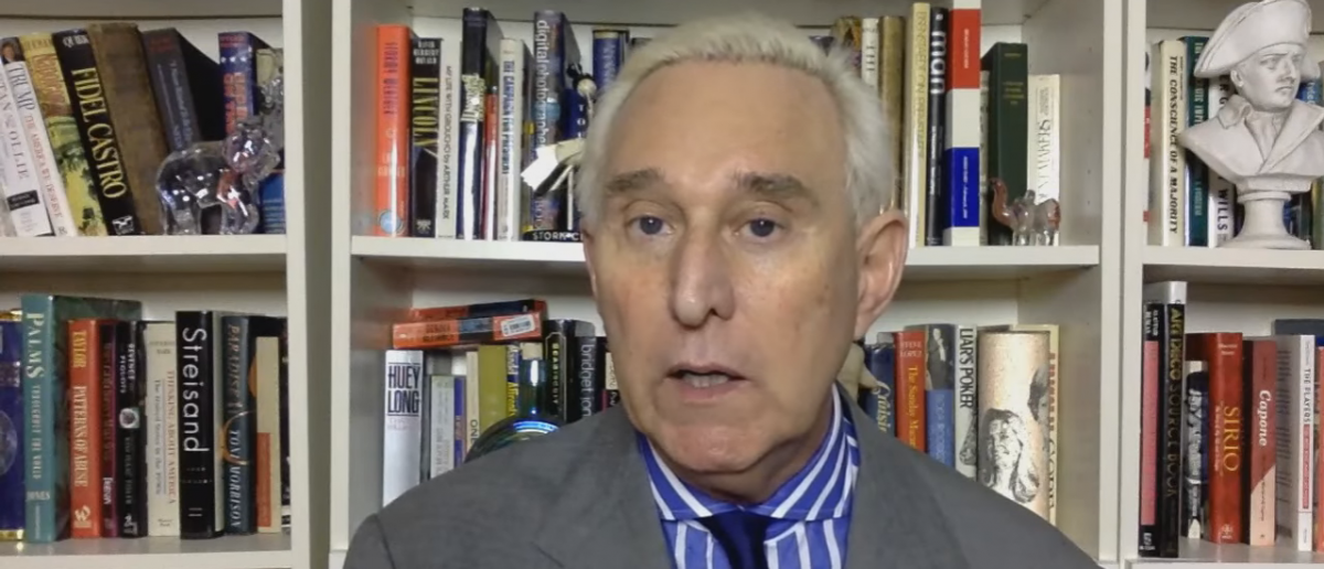 Trump surrogate and GOP operative Roger Stone. YouTube screengrab: https://www.youtube.com/watch?v=AzNOvTe8BZQ