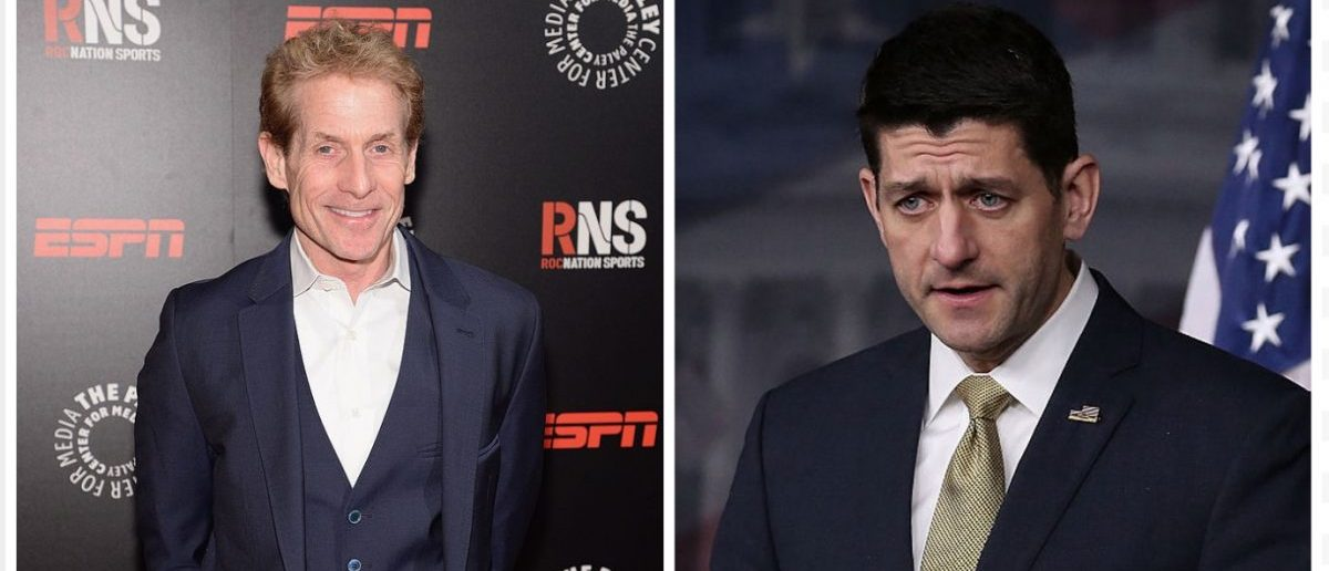Paul Ryan, Skip Bayless (Credit: Getty Images)