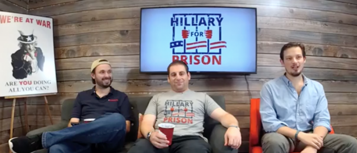Get your very own Hillary for Prison shirt or sweatshirt
